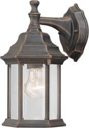 Photon 1 Light 12'' Painted Rust Finish Incandescent Outdoor Wall Lantern with Clear Beveled Glass Panels