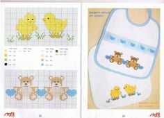 Inspirational thoughts that we enjoy! Cross Stitch For Kids, Cross Stitch Baby, Cross Stitch Animals, Hand Embroidery Patterns, Cross Stitch Patterns, Baby Bibs Patterns, Bib Pattern, Cross Stitching, Sewing Projects