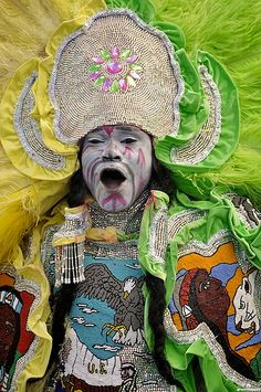 Mardi Gras Indian in New Orleans on Super Sunday 2010. (Photo from flickr, courtesy of Groovescapes)
