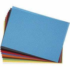 #Kruissteken #karton, vel 23x33 cm, 300 gr, 10 assorti vel, kleuren assorti