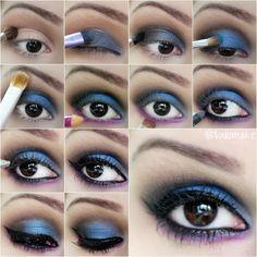 Passo a passo maquiagem azul e roxa - tudo make 04
