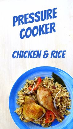 Buh-bye RAW chicken and GUMMY rice - this pressure cooker chicken and rice recipe gets them both right!