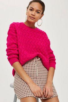 916207e89184c Pretty Geometric Print Jacquard Mini Skirt - Skirts - Clothing