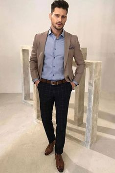 Business casual men outfit ideas to fit summer fall and even winter. From now on… Business casual men outfit ideas to fit summer fall and even winter. From now on whether you are headed to work or interview – you will look fantastic and modern! Mens Business Professional, Business Casual Men, Men Casual, Business Formal, Casual Styles, Professional Attire, Smart Casual, Men's Business Outfits, Business Fashion