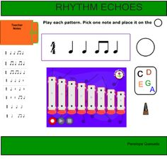Creating music using rhythms and C pentatonic: for Smartnotebook (Smartboard) by Penelope Quesada 2nd Grade Music, Smart Board Lessons, Elementary Music Lessons, Middle School Music, Music Activities, Music Classroom, Music Theory, Teaching Music, Music Education