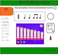 Creating music using rhythms and C pentatonic: for Smartnotebook (Smartboard)  by Penelope Quesada