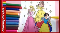 coloring pages for girls : How to color princess colouring pages , coloring pages shosh channel