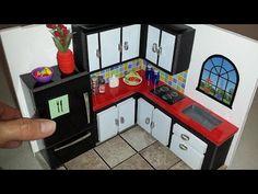 DIY Miniature Dollhouse - Kitchen - YouTube