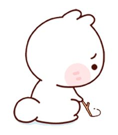 LINE Creators' Stickers - Happy bunny Sunny Example with GIF Animation Cute Bear Drawings, Cute Cartoon Drawings, Kawaii Drawings, Cute Anime Cat, Cute Cat Gif, Cute Love Memes, Cute Love Gif, Cute Cartoon Pictures, Cute Love Pictures