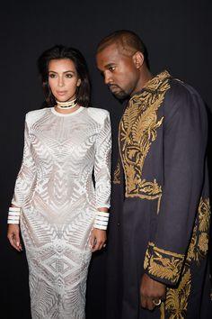 Kim Kardashian Photos: Front Row at Balmain