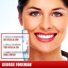 La sonrisa es nuestra principal carta de presentación. ¡Cuidémosla siguiendo estos sencillos consejos! #tips #salud #mujer #georgeforemanmx