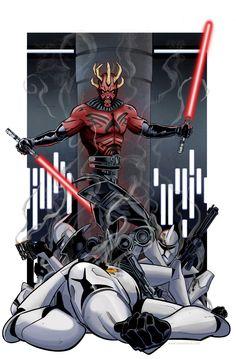 Darth maul durning the clone wars Star Wars Sith, Clone Wars, Star Trek, Jedi Sith, Sith Lord, Images Star Wars, Star Wars Fan Art, Darth Maul, Star Wars Collection