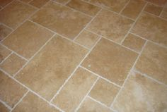 Classic Chipped Edge Filled and Honed Travertine Opus Pattern x12mm £23.40 per sq m