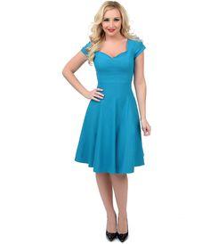 See more detail about Unique Vintage Teal Short Sleeve Grace Swing Dress . Swing Dance Dress, 1950s Swing Dress, Swing Skirt, Dance Dresses, Dresses For Sale, Cute Dresses, Summer Dresses, Vestidos Vintage, Vintage Dresses