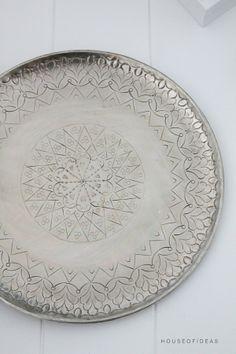 Orientalischer Dekorationsteller Alu 48 cm - HOUSE of IDEAS Orientalische Dekorationsartikel und Bunzlauer Keramik