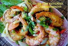 Miss Saigon Restaurant, Amherst, MA  H8. Tom Rang Muoi Braised Shrimp ~ yum yum