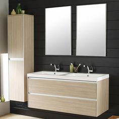 Hudson Reed - Erin Light Oak Double Basin & Cabinet x - Modern Room, Modern Bathroom, Bathroom Ideas, Modern Vanity, Bathroom Sink Units, Bathroom Storage, Bathroom Stand, Vanity Bathroom, Bathroom Organization