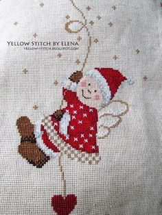Wall Cross Stitching, Cross Stitch Embroidery, Embroidery Patterns, Cross Stitch Designs, Cross Stitch Patterns, Loom Patterns, Cross Stitch Angels, Theme Noel, Christmas Embroidery