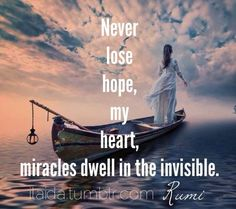 I believe in miracles....  :)