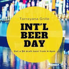 A great reason to start the weekend with Happy Hour! 🍻 #InternationalBeerDay #Cheers . . . #LaJolla #TorreyPines #SoCal #Cali #Paradise #California #Travel #Getaway #PacificOcean #SanDiego #Summer #HappyHour #Weekend #CraftBeer #SDCraftBeer #lajollalocals #sandiegoconnection #sdlocals - posted by Hilton La Jolla Torrey Pines  https://www.instagram.com/hiltonlajolla. See more post on La Jolla at http://LaJollaLocals.com