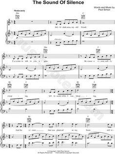 The Sound of Silence ~ Simon & Garfunkel. D Minor (transposable). Saxophone Sheet Music, Easy Piano Sheet Music, Cello Music, Music Sheets, Clarinet, Music Music, Sheet Music Direct, Music Score, Cello Noten