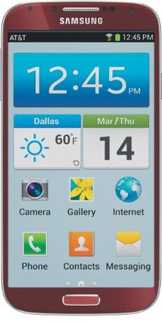 Samsung Galaxy S4, Red (AT) $649.99 #Samsung #CellPhones #Accessories