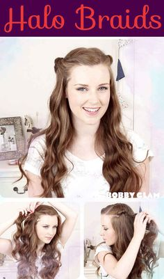 Halo Braids | 26 DIY Hairstyles Fit For A Princess