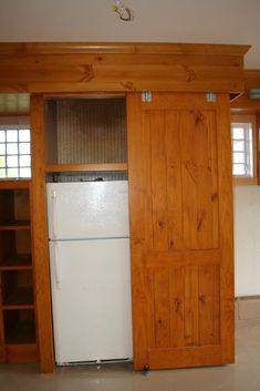 Knotty Pine Garage Cabinets