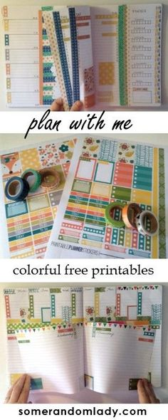 Free printable fall planner stickers, plan with me, colorful planner stickers - no brown!