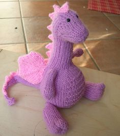 Craft Passions: Tarragon the Gentle Dragon..# free #knitting pattern link here
