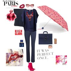 Paris tu me manque. by sophie-poualion on Polyvore featuring Jigsaw, H&M, Christian Louboutin, Alberta Di Canio, MANGO, Feather & Stone, Ted Baker, paris, navyblue and Cerise