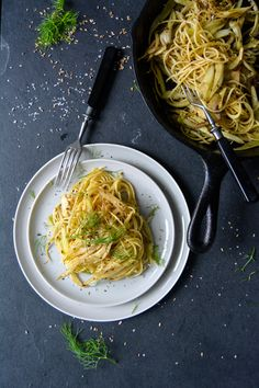 Spaghetti with Pan Roasted Fennel | eat in my kitchen