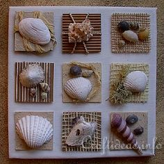 Great idea for all those sea shells collected on the beach vacations.