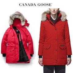 CANADA GOOSE ダウンジャケット・コート CANADA GOOSE Trillium Parka Fusion Fit 美しいビビッドレッド Canada Goose Women, Canada Goose Jackets, Parka, Winter Jackets, Fitness, Fashion, Winter Coats, Moda, Winter Vest Outfits