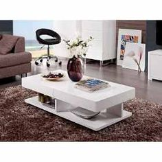 White Gloss Rectangular Coffee Table - Verona Extendable High Gloss Coffee Table In White. High Gloss White Coffee Table with Rotating top Tiffany Range.resemblance Of Amazing Lucite Coffee Table Ikea. Wooden Coffee Table Designs, Coffee Table Images, Glass Top Coffee Table, Coffee Table With Storage, Coffee Tables, Living Room Furniture Sale, White Furniture, Table Furniture, Centre Table Design