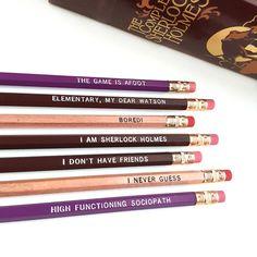 Sherlock Holmes Pencil Set 7Imprinted Pencils by IceyDesigns