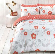 Scandi Floral Duvet Quilt Bedding Set | Coral – Linens Range