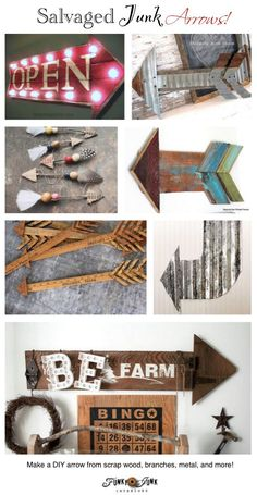 Funky Junk Interiors PJ 265 – DIY arrows for home decor http://www.funkyjunkinteriors.net/2015/02/diy-arrows-for-home-decor-reclaimed-wood.html via bHome https://bhome.us