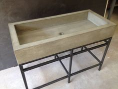 Concrete Farmhouse Trough Sink  Our castings are individually handcrafted throughout a meticulous process that has taken years to refine. Each piece is custom designed and built to your specifications.  -PLEASE VISIT US AT www.stogs.net FOR MORE INFO OR CALL 913.286.0455  -Made of our own ultra dense and durable blend of hand selected ingredients. -Unlimited color and design selection. -Diamond polished and sealed with our own unique system, leaving the natural luster of polished cast stone…