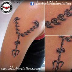 Freehand Rudraksha Armband With Mritunjaya Mantra Tattoo And Concept By Anmol Jeswani ⎯⎯ Har