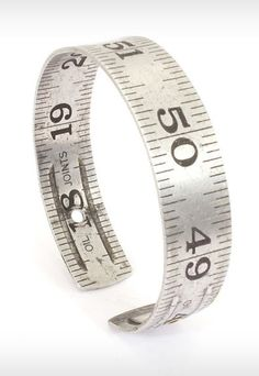 "Vintage Craftsman Ruler Bangle #mine. I like steam punk accents. Reusing things from the junk drawer to make ""new"" things"