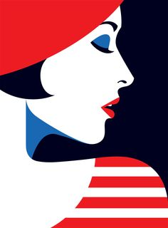 Marie by Malika Favre I like this illustration artwork because of its bold design and colourful block colours. I like the mixture of the black and red together. Art And Illustration, Portrait Illustration, Diamond Paint, Kunst Poster, Art Abstrait, Art Deco Design, Vector Art, Illustrators, Art Drawings