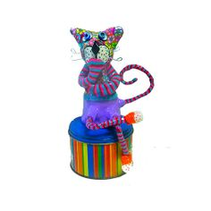special whimsical gift  Cat figurative one of a kind   by MIRAKRIS, $38.00