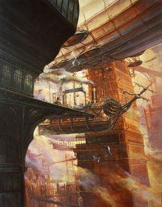Beautiful steampunk voyages from Didier Graffet