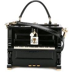Dolce & Gabbana 'Dolce' Handtasche Im Piano-Design – Farfetch – Purses And Handbags Totes Unique Handbags, Unique Purses, Unique Bags, Cheap Handbags, Studded Handbags, Tote Handbags, Purses And Handbags, Tote Bags, Studded Purse