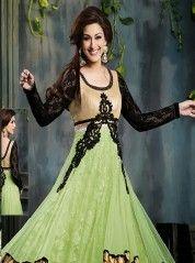 Photogenic Sonali Bendre in lace Anarkali: KSL2256