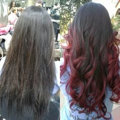 brunette red ombre - Google Search