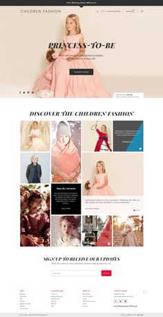 High-end fashion for kids! #eCommerce #fahsion #kids | Laura Lee Moreau on Dribbble
