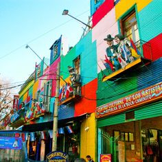 Buenos Aires is city made of barrios or neighborhoods. These barrios portray the range of different cultures that Buenos Aires has. Perhaps the most unique of these barrios are the beautiful and colorful streets of La Boca. #doyoutravel #Argentina #travelingsouthamerica #travel #wander #laboca
