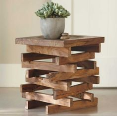 STOOLS & SIDE TABLES | The TOTEFISH Blog.  Wood Stack Stool $198